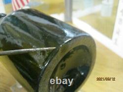 Fla. Keys Shipwreck/pirate Find 1820's Sand Pontilblack Glassenglish Mallet