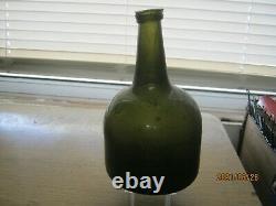 Fla Keys Shipwreck/pirate Find Pontiled1730-50 Black Glass Dutch Bell Mallet