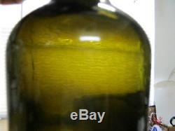 Florida Keys Ocean Find Iron Pontiled 1820'sblack Glass True Colonial Mallet