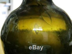 Florida Keys Ocean Find Mintpontiled 1800black Glass True Colonial Mallet