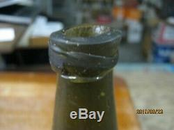 Florida Keys Shipwreck Pontil 1700-20black Glasslong Neck Bulbous Dutch Onion