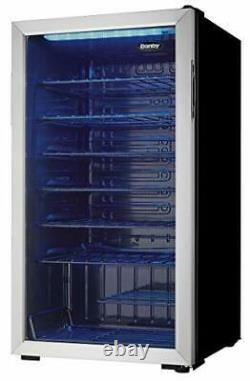 Free Standing Wine Cooler Single Zone Fridge With Glass Door Holds 36 Bottles