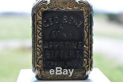 Geo. Benz & Sons Appetine Bitters St. Paul Minn. Black Glass (amethyst)