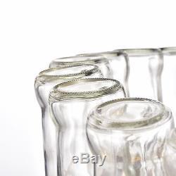 Giuliana Antique Black Two-tier Clear Glass Bottle Chandelier