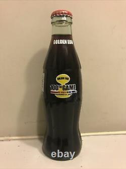 Glass Coca Cola Bottle RARE Golden Egg 100th game MS State vs Olemiss