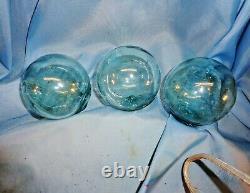 Hawaii 3 Fishballs / 1800's Hawaii Gin Old Bottle / Black Pearls