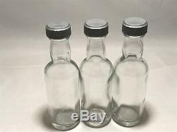 High Quality 5cl / 50ml Miniature Glass Spirits Bottle c/w black or silver cap