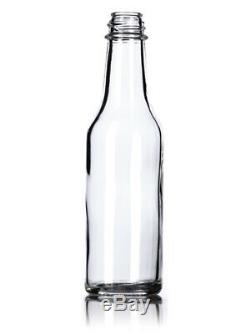 Hot Sauce Woozy Empty Clear Glass Bottles With Black Caps 5 Oz 264 Pack