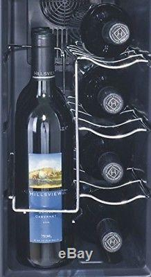 Igloo 12-Bottle Wine Cooler with Curved Glass Door, Black