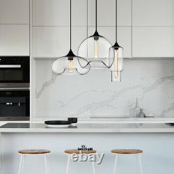 Industrial Kitchen Island Lighting Glass Chandelier Pendant Light Fixture Lamp