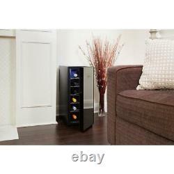 Koolatron Wine Cooler 12-Bottle Freestanding Thermoelectric Tempered Glass Door