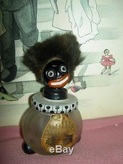 LARGE antique lbd Paris France, VIGNY figural black Americana perfume bottle