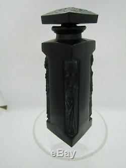 Lalique Figural Ambre D'Orsay Black Glass Perfume Bottle