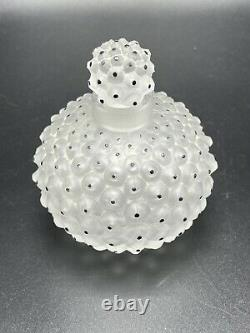 Lalique France Frosted Glass Cactus Black Dots Perfume Bottle