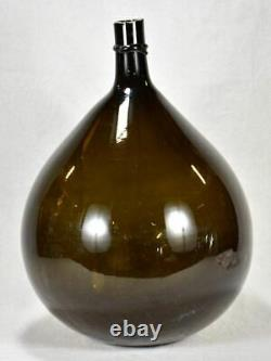 Large 19th century French demijohn signed by glass maker 25½