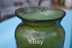 Large Black Glass Fruit Jar with Open Pontil c. 1800