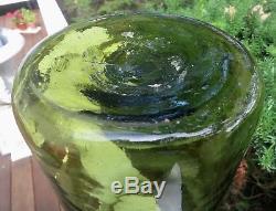 Large, Bold Antique Black Glass French Food Storage Jar, Pontil. Good Condtion