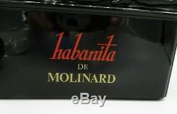 Large Habanita de Molinard Black Glass Factice Empty Perfume Bottle