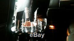 Limo REAR CHAMPAGNE bottle glass console LINCOLN CADILLAC SEDAN SUV BLACK
