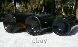 Louisiana 1860's Antique Sea-washed Black Glass Beer Bottle Accent Pieces