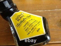 MONTBLANC Last Glass Bottle Fountain Pen Ink Black GERMANY Eastern Europe Vintag
