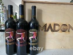 Madonna Wine Confessions On A Dance Floor Wine Etched Glass Celebrity Cellars