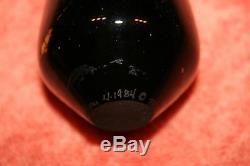Marked Matthew Buechner 4-1984 (C) BGH Gold Leaf on Black Glass Perfume Bottle