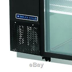 Maxx Cold 59.1 Commercial Back Bar Beer Bottle Cooler Two 2 Double Glass Doors