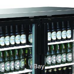Maxx Cold 69.2 Commercial 2 Glass Door Back Bar Beer Bottle Refrigerator Cooler
