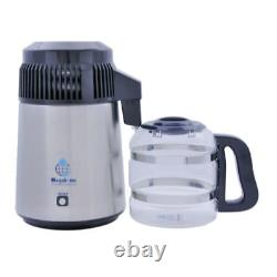 Megahome Water Distiller HD 316 Stainless and Black with Glass Collection Bottle