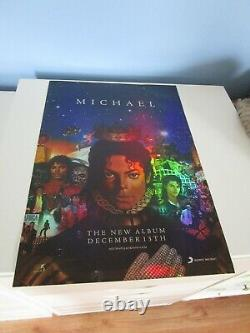 Michael Album Holographic Asian Promo Poster+ One Bottle and Black Glass