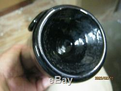 Mintblack Glasssand Pontiled 1850's Free Blownblob Seal Inner Temple Whiskey