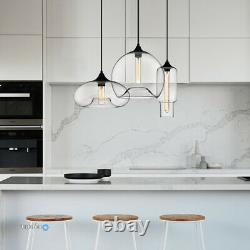 Modern Glass Chandelier Ceiling Pendant Light Fixture Kitchen Island Lighting US