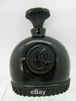 Moiret Circe Black Glass Perfume Bottle Wolf Figural, C 1930