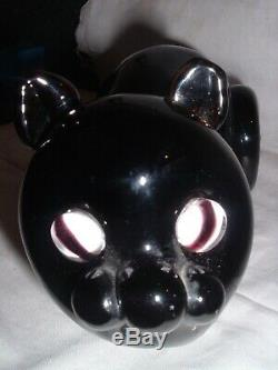 Murano Art Glass Murano Seguso Black Cat Bottle for Bischoff Brandy Bottle EMPTY