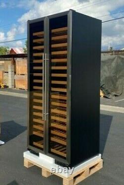 NEW 321 Wine Bottle Cooler Cabinet Two Glass Door Refrigerator NSF