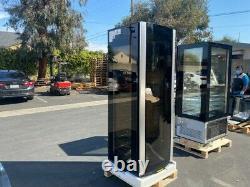 NEW 82 Reversible Wine Bottle Cooler Cabinet Glass Door Refrigerator NSF