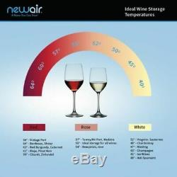 NewAir 28-Bottle Locking Glass Door Wine Fridge Refrigerator Home Office Bar