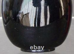 Nice Chinese 19th Century Qing Dynasty Black Glass Snuff Bottle
