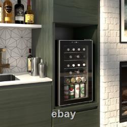 OKADA Beverage Refrigerator 85 Cans or 24 Bottles Wine Cooler with Glass Door fo