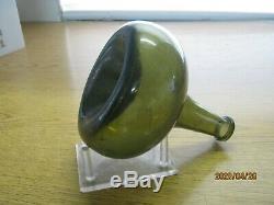 Ocean Fla Keys Shipwreck Findpontiled Bulbous1700's Black Glass Dutch Onion
