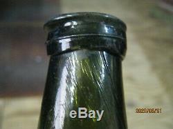 Ocean Fla Keys Shipwreck Pontil 3/4 Size Bulbous1700's Black Glass Dutch Onion