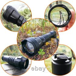 Odepro kl52 Plus zoomable Hunting Flashlight red Light with Green Light White