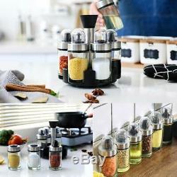 Olive Oil Dispenser and Vinegar Bottle Set of 6 Bottles, Glass Condiment Set