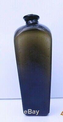 PIG SNOUT BLACK GLASS CASE GIN BOTTLE SHIPWRECK FOUND OFF GA/SC COAST 1970's