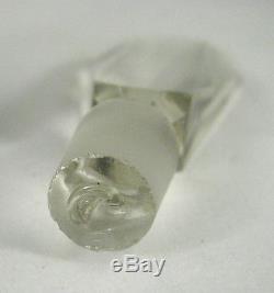 Perfume Bottle Art Deco Czechoslovakia Glass Signed Dauber Empty Black Opaque