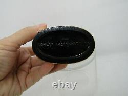Prince Matchabelli Crown Shape Perfume Bottle, Large Black Glass