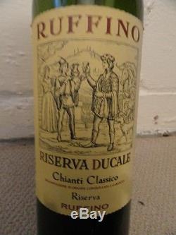 RUFFINO RISEVA CHIANTI Dummy Display Wine Empty Glass Bottle 18 Corked