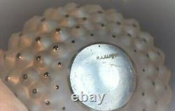 R. Lalique Embossed Opaque Perfume Bottle with Black Dots