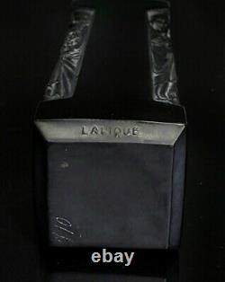R. Lalique Signed Ambre DOrsay Black Glass Crystal Perfume Bottle